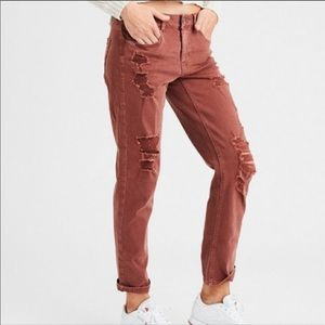 AE Distressed Tomgirl Relaxed Jeans